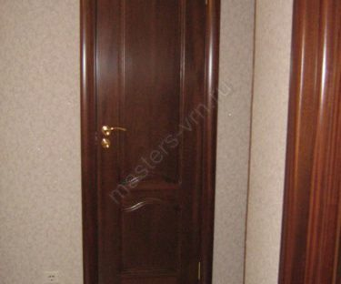 Монтаж глухих дверных блоков