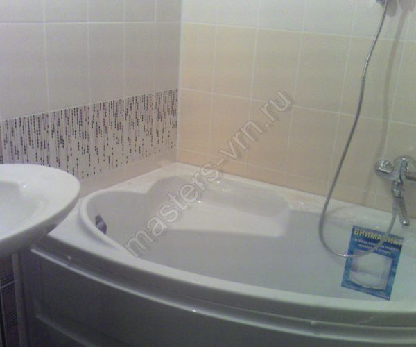 Установка ванны и умывальника